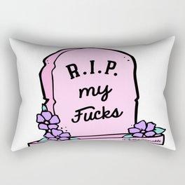 R.I.P. My Fucks Rectangular Pillow