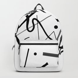 Kandinsky - Black and White Abstract Art Backpack