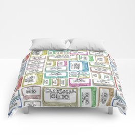Tape Mix 2 Vintage Cassette Music Collection Comforters