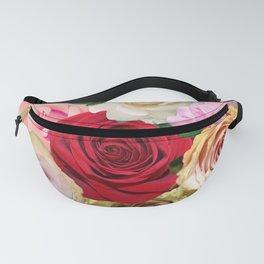 Rose Garden - Floral Spring Summer Roses Design Fanny Pack