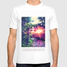 Junglism 4 MEDIUM Mens Fitted Tee White