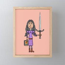 Angela Pendragon at 19 Years of Age Framed Mini Art Print