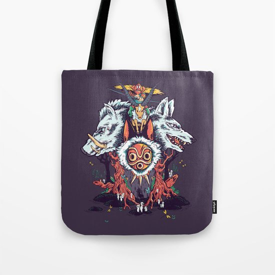 The Wolf Princess (Purple) Tote Bag