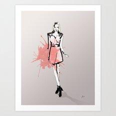 Coral Fashion Art Print