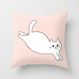cat 616 Throw Pillow