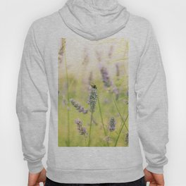 A bee on the lavender Hoody