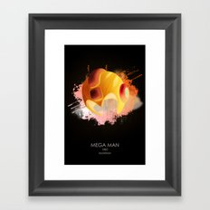 Mega Man Framed Art Print