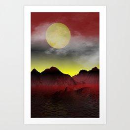 a strange island somewhere Art Print