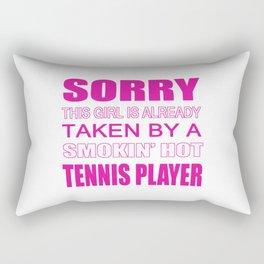 Taken By A Tennis Player Rectangular Pillow