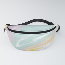 Pastel Abstract Paint Swirl Fanny Pack