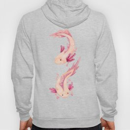 Mexican Axolotls Watercolor Hoody