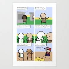 Antics #044 - OUTSIDE QUEST: PART 3 Art Print