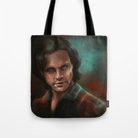 sam smith Tote Bags featuring Sam by charlotvanh