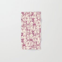 just alpacas cherry pearl Hand & Bath Towel