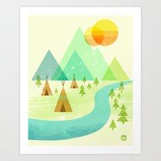 Native Lands Art Print