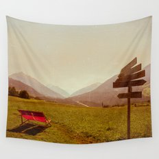 Vintage Holiday Wall Tapestry