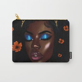 Pretty Brown Lady Carry-All Pouch
