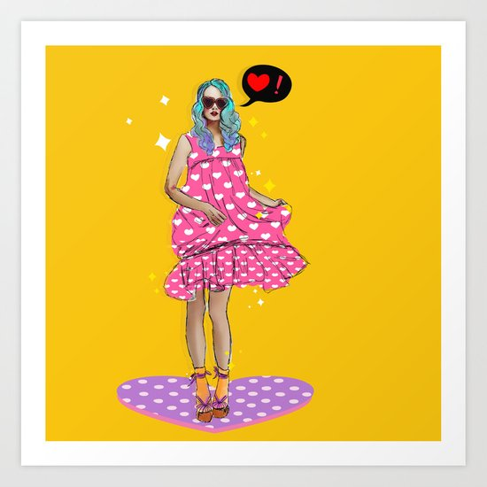 Ms. Love Art Print