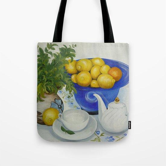 Lemon Tea Tote Bag