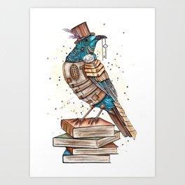 Steampunked Tui Art Print