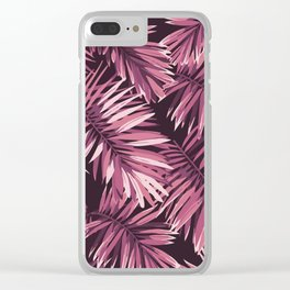 Rose palm leaves Clear iPhone Case