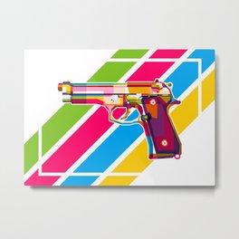 Baretta 92 Handgun Metal Print