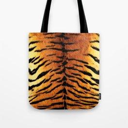 Realistic Tiger Skin Print Tote Bag