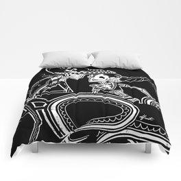 ZAPATEADO ON BLACK Comforters