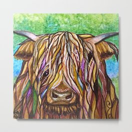 Wee Hairy Highlin Coo Metal Print