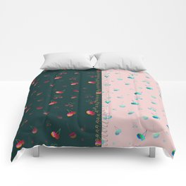 Rainbow cherries colour blocking Comforters