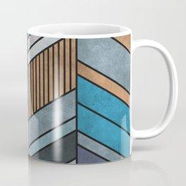 Colorful Concrete Chevron Pattern - Blue, Grey, Brown Coffee Mug
