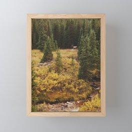 Rocky Mountain Creek Elk Framed Mini Art Print