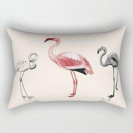 The Tres Flam-igos Rectangular Pillow