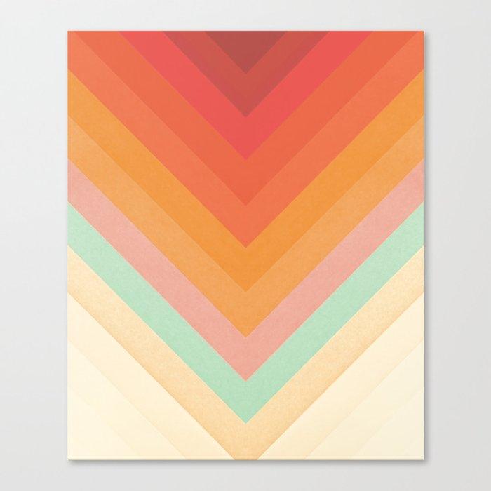 Rainbow Chevrons Canvas Print