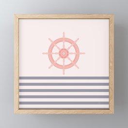 AFE Nautical Helm Wheel 2019 -5 Framed Mini Art Print