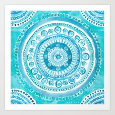 PEARLS OF WISDOM Mermaid Mandala Art Print