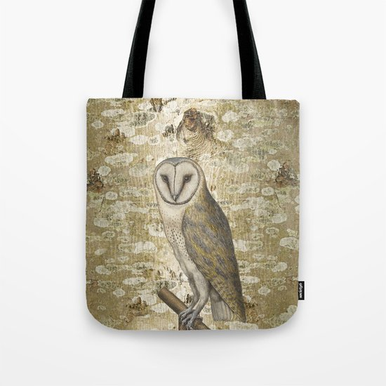 On the speculation of Keats , and the gaze of the owl. We are all in camouflage. Tote Bag