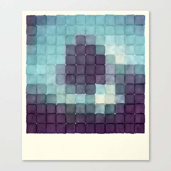Polaroid Pixels II (Tree) Canvas Print
