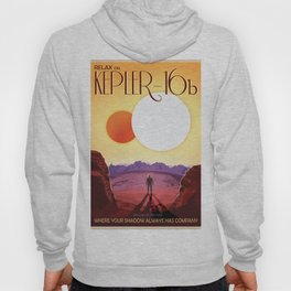 NASA Retro Space Travel Poster #8 Kepler 16b Hoody