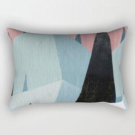 Pink and Green Rectangular Pillow