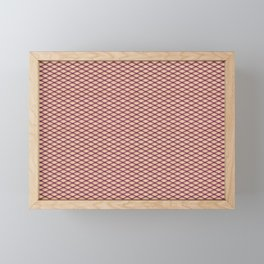 Purple Fishnet Texture on Pale Skin Framed Mini Art Print