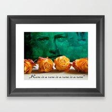 ROSE - quote Framed Art Print