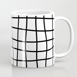 Hand Drawn Grid (black/white) Coffee Mug