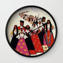 Nuoro Sardinia vintage Italian travel ad Wall Clock