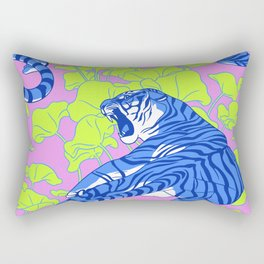 Neon Tigers and Water Lillies. Rectangular Pillow