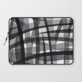 grey crossed stripes Laptop Sleeve
