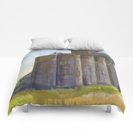 SILO, Montana Travel Sketch by Frank-Joseph Comforters