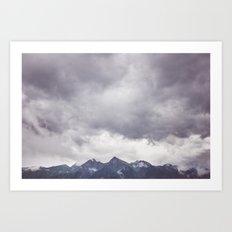 Born to hike Art Print