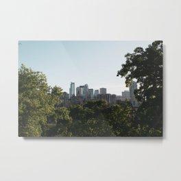 Minneapolis Skyline Through Trees Metal Print