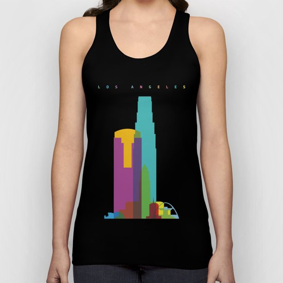 Shapes of Los Angeles accurate to scale Unisex Tank Top